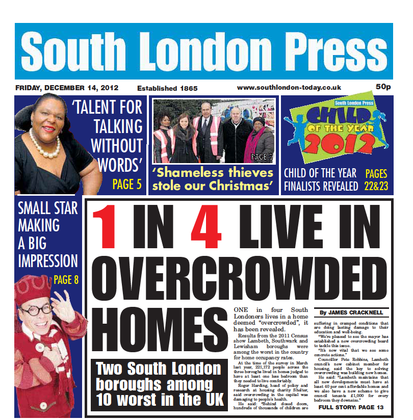 1 in 4 live in overcrowded home
