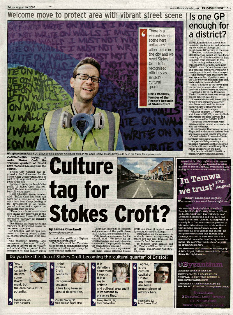 Culture tag for Stokes Croft