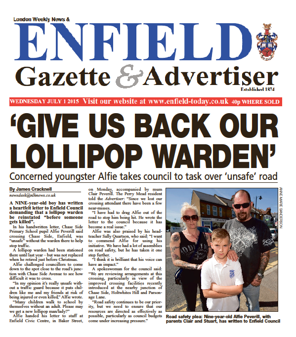 Enfield Advertiser 1st July 2015