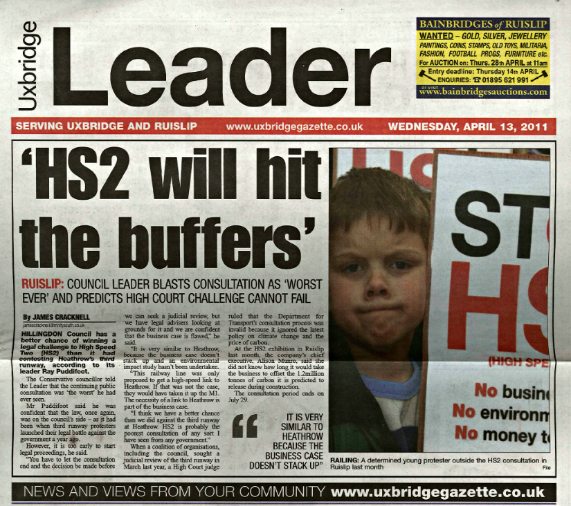 HS2 will hit buffers