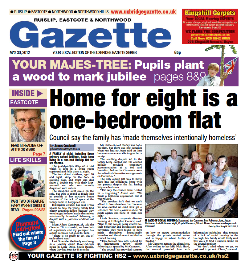Home for eight is a one-bed flat