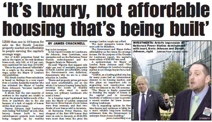 It's luxury not affordable