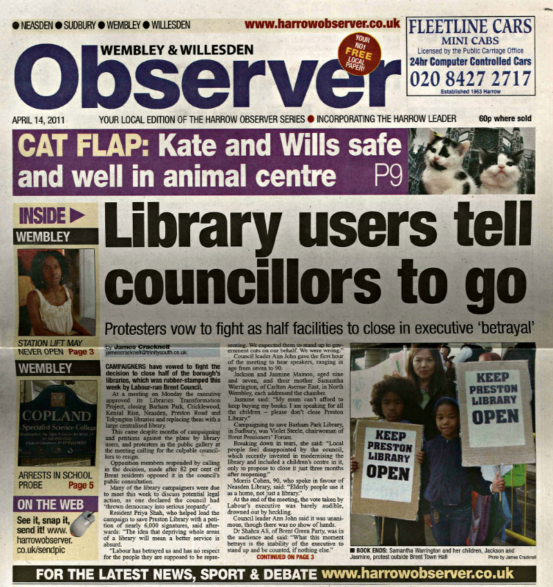 Library users tell councillors to go