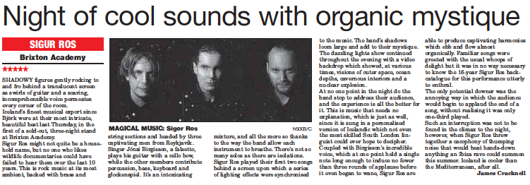 Night of cool sounds with organic mystique