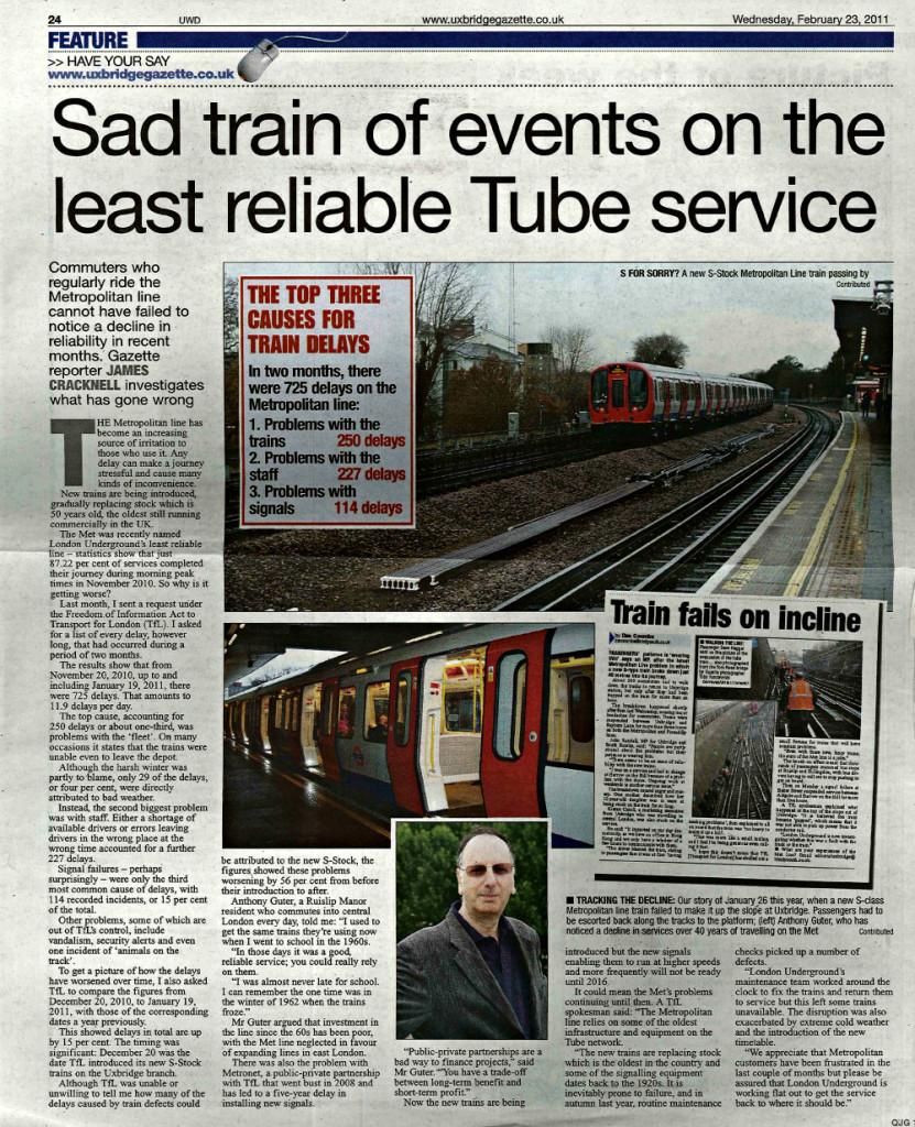 Sad train of events