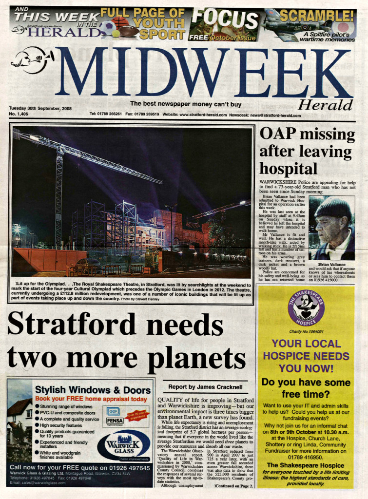 Stratford needs two more planets